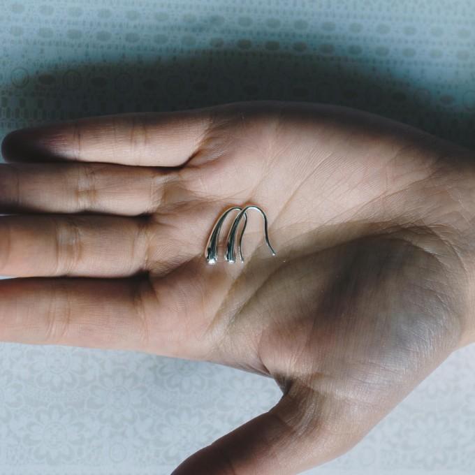 Сребърни обеци Philip Jones Silver Teardrop