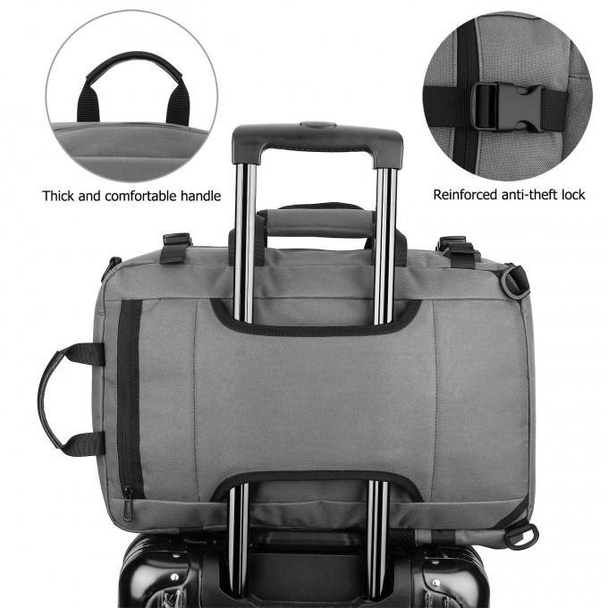 Многофункционална водоустойчива раница за лаптоп с джоб против кражби в сив цвят