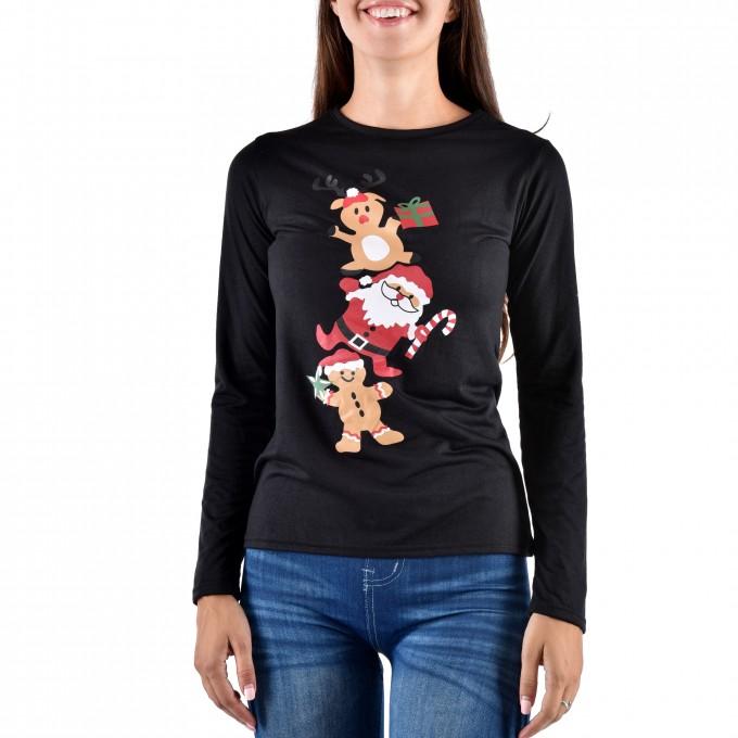 """Дамска блуза """"Коледна магия"""""""