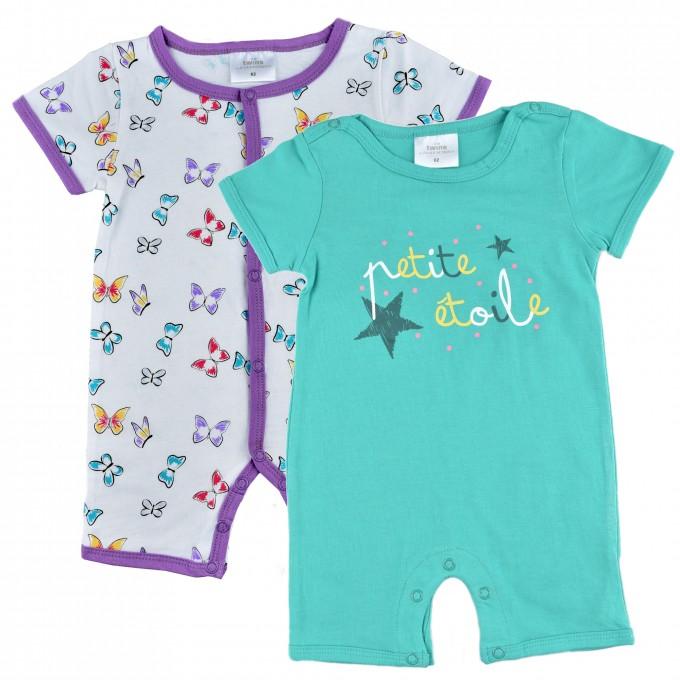 "Комплект бебешки пижами TWINS ""пеперуди"""