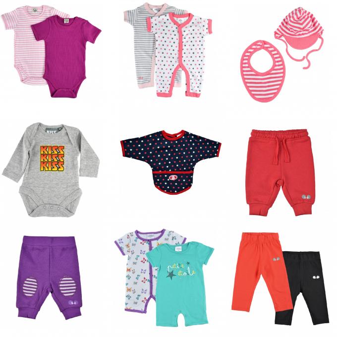 Лот бебешки дрехи от новородено до 3 месеца за момиче