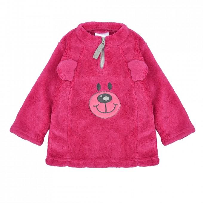 Поларена пухкава блуза TWINS в розово