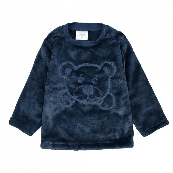 Поларена пухкава блуза TWINS в тъмно синьо