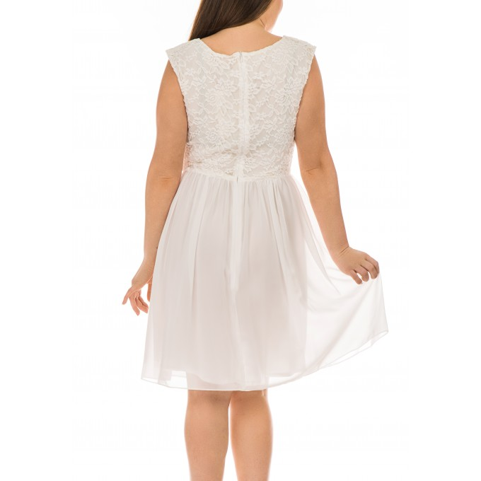 Дамска рокля Swing Schnee