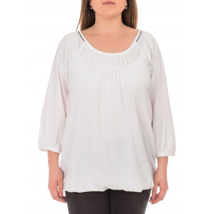 Бяла дамска блуза Berydale